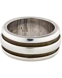 Tiffany & Co. - Grooved Band Silver - Lyst