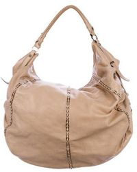 Sergio Rossi - Leather Chain-link Hobo Beige - Lyst