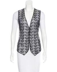 Day Birger et Mikkelsen - Sequined Semi-sheer Vest - Lyst