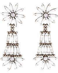 DANNIJO - Lovisa Resin & Crystal Drop Earrings Silver - Lyst