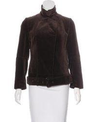 CoSTUME NATIONAL - Velvet Belted Jacket - Lyst