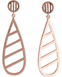 Arme De L'Amour - Side Lines Drop Earrings Rose - Lyst