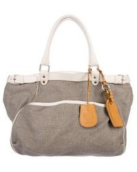 Vanessa Bruno - Leather-trimmed Canvas Tote Gold - Lyst