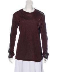 Reed Krakoff - Crew Neck Long Sleeve Top - Lyst