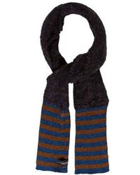 By Malene Birger - Striped Knit Scarf W/ Tags Plum - Lyst