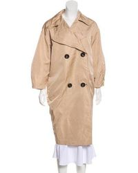 Giambattista Valli - Silk Double-breasted Coat - Lyst