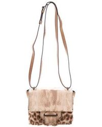 Reed Krakoff - Kit Fur-trimmed Bag Brown - Lyst