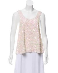 Gryphon - Sequin-embellished Sleeveless Top - Lyst