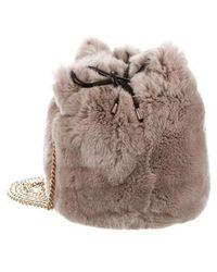 Yves Salomon - Fur Bucket Bag Gold - Lyst