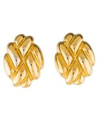 Givenchy Textured Clip On Earrings Gold Lyst