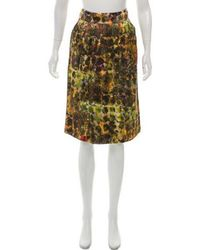 Alberta Ferretti - Printed Knee-length Skirt W/ Tags - Lyst