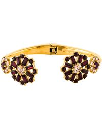 Kate Spade - Crystal Trellis Blooms Cuff Gold - Lyst
