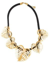 Tory Burch - Heart Of Palm Wreath Necklace Gold - Lyst