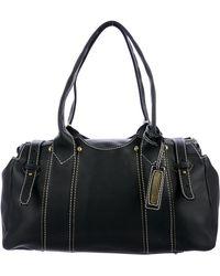 Sonia Rykiel - Grained Leather Shoulder Bag Black - Lyst