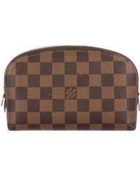 Louis Vuitton - Damier Ebene Cosmetic Pouch Brown - Lyst