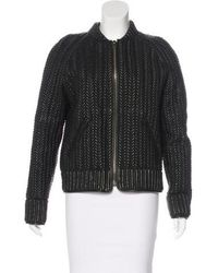 Isabel Marant - Quilted Leather Jacket Black - Lyst