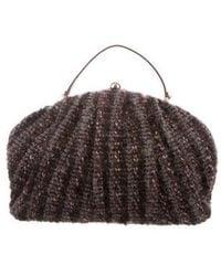 Missoni - Leather-trimmed Knit Bag Multicolor - Lyst
