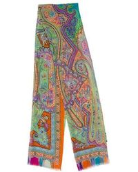 Etro - Paisley Printed Scarf Orange - Lyst