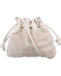 Clare V. - Ponyhair Petit Henri Drawstring Bag Gold - Lyst