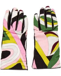 Emilio Pucci - Printed Leather Gloves - Lyst