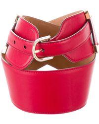 Roberto Cavalli - Leather Waist Belt Gold - Lyst