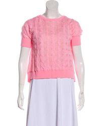 Dior - Wool Crop Top Pink - Lyst