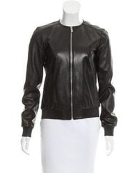 Michael Kors - Leather Zip-up Jacket - Lyst