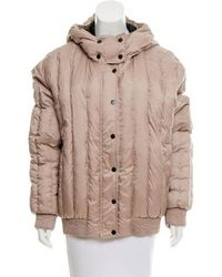 Carven - Hooded Puffer Coat Tan - Lyst
