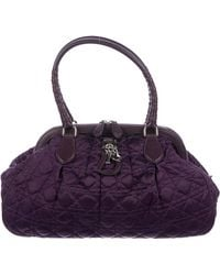 Dior - Satin Cannage Doctor Bag Purple - Lyst