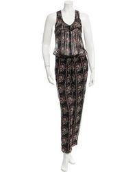 Étoile Isabel Marant - Silk Printed Jumpsuit W/ Tags - Lyst
