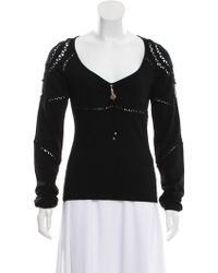Class Roberto Cavalli - Virgin Wool Knit Sweater - Lyst