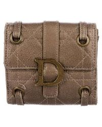 Dior - Quilted Leather Compact Wallet - Lyst