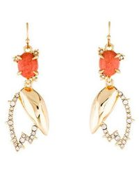 Alexis Bittar - Dyed Quartzite & Crystal Encrusted Abstract Tulip Drop Wire Earrings Gold - Lyst