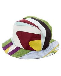 2bb5bca011fbc Emilio Pucci - Printed Bucket Hat Multicolor - Lyst