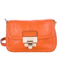MICHAEL Michael Kors - Michael Kors Leather Flap Shoulder Bag Orange - Lyst