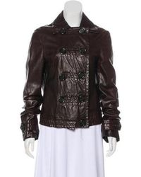 Michael Kors - Leather Button-up Jacket - Lyst