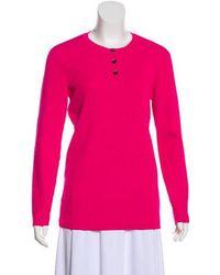 Trademark - Knit Long Sleeve Sweater Fuchsia - Lyst