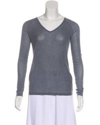 Vanessa Bruno Athé - Knit Long Sleeve Top Blue - Lyst