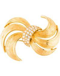 Givenchy - Crystal Flourish Brooch Gold - Lyst