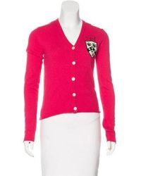 Lucien Pellat Finet - Cashmere Embroidered Cardigan - Lyst