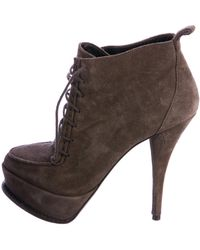 Elizabeth and James - Suede Platform Ankle Boots Neutrals - Lyst