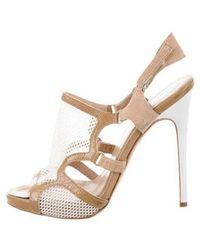 Philosophy di Alberta Ferretti - Mesh Ankle Strap Sandals White - Lyst