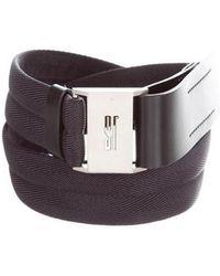 Jil Sander - Canvas Leather-trimmed Belt - Lyst
