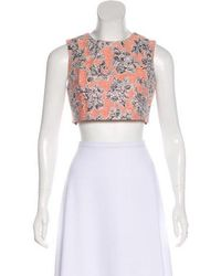 Thakoon - Floral Crop Top Pink - Lyst