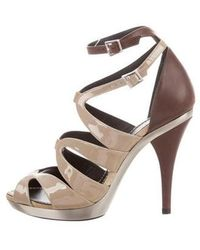 Barbara Bui - Patent Leather Cage Sandals W/ Tags Nude - Lyst