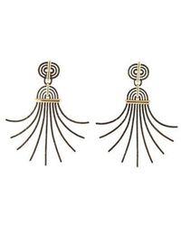 Lanvin - Elvira Earrings Brass - Lyst