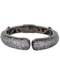 M.c.l  Matthew Campbell Laurenza - Moonstone Hinged Cuff Bracelet Silver - Lyst