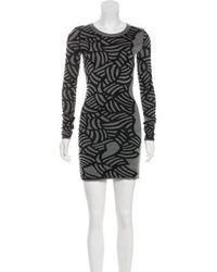 9e0a9265f8 Lyst - Diane Von Furstenberg Turtleneck Wool Dress Grey in Gray