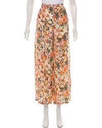 Saloni - Silk High-rise Pants W/ Tags Orange - Lyst