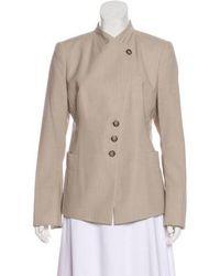 Akris - Wool Structured Blazer Beige - Lyst